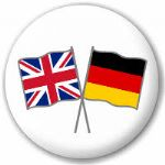 Great Britain and Germany Friendship Flag 25mm Pin Button Badge